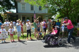 Residents of Mendham Road in Gladstone formed their own cheering section last year for participants in the Lu Huggins Wheelchair Walk.